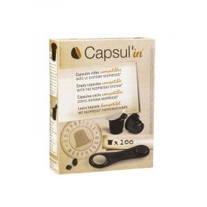 Capsulin Empty Nespresso capsule