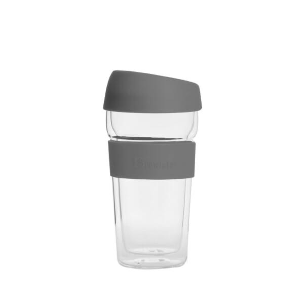 Brewista glass mug grey