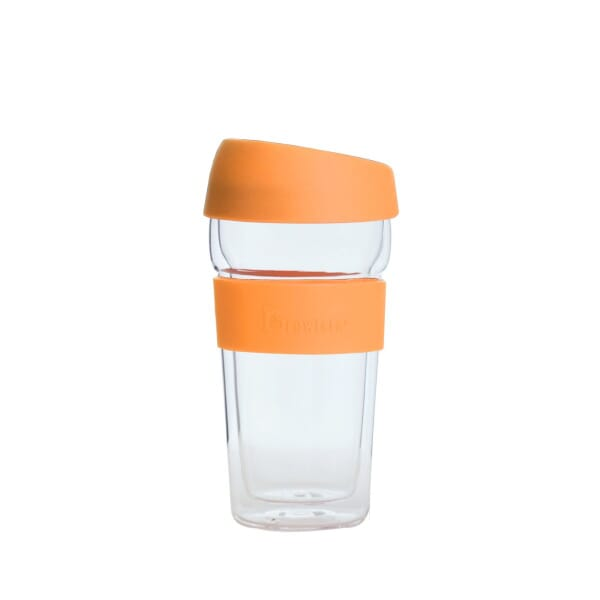 Brewista glass mug orange