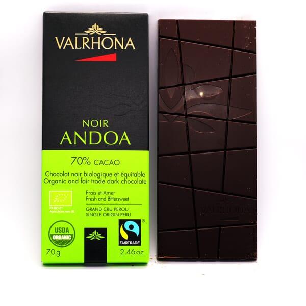 Valrhona Andoa Noir chocolate bar