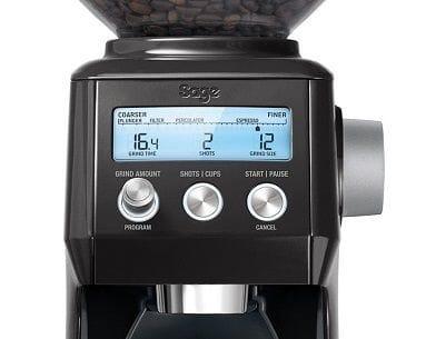 Sage smart grinder black front panel